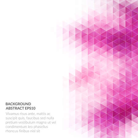 Abstract background with geometric texture. Bright shades of pink. Copy space for text.