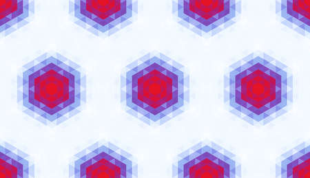 Abstract seamless pattern of simple geometric shapes. Bright shades of colors. Çizim
