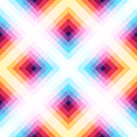 Abstract seamless pattern. Bright neon colors of the spectrum. Çizim