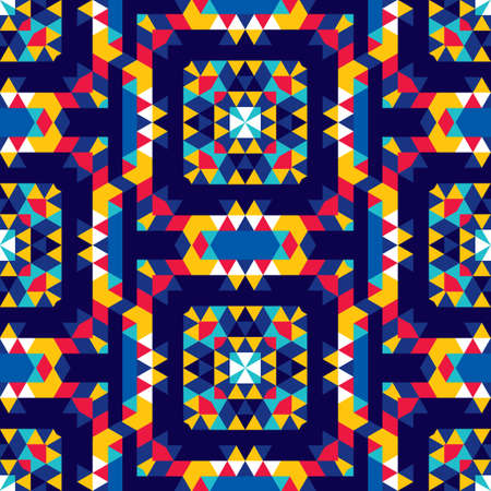 Abstract seamless pattern with texture of triangles. Strict geometric structure of the picture.