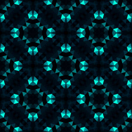 Abstract seamless pattern with simple neon figures. Çizim