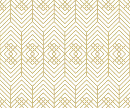 Seamless pattern with gold figures and lines.