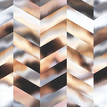 A seamless abstract pattern of many elements. Иллюстрация