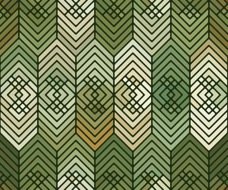 Abstract seamless pattern with shapes and lines. Иллюстрация