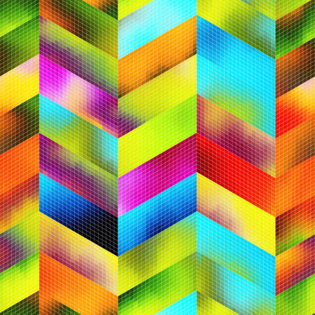 A seamless abstract pattern of many elements. Фото со стока - 168185275