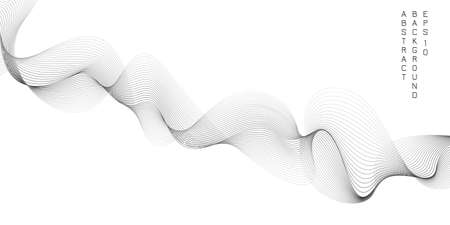 Abstract background with wavy lines and shapes