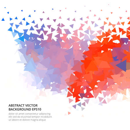 Abstract bright image with texture of triangles. Иллюстрация