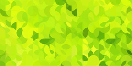 Colorful bright geometric pattern in green colors