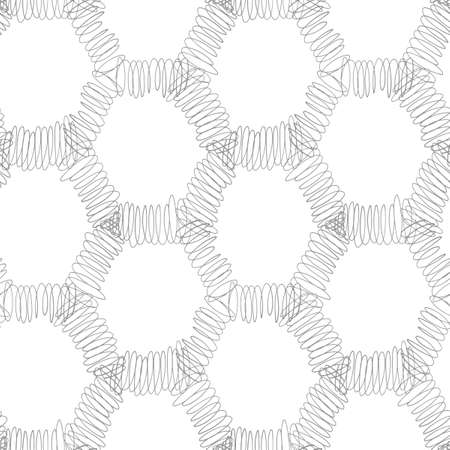 A seamless pattern of lines and hexagons.