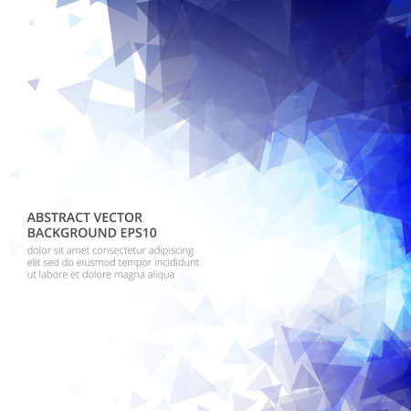 Light blue vector abstract and mosaic background.