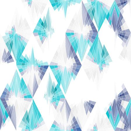 A seamless bright pattern. White, blue, purple. Иллюстрация