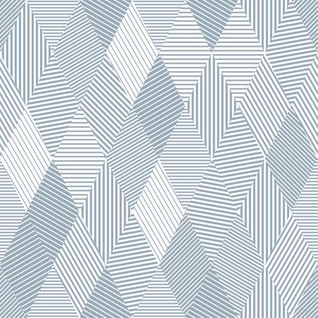 A seamless pattern of lines, rhombus, stripes. Иллюстрация