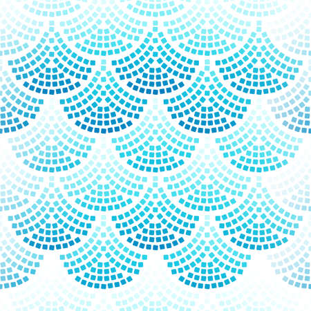 Pattern with texture of scales and squares.