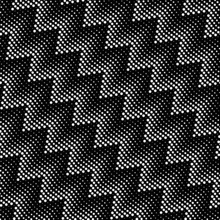 Seamless pattern with zigzags from the dots. Illustration