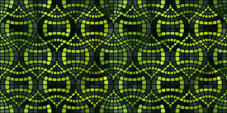 Pattern of vector mosaic in the oriental style.