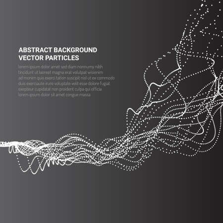 Abstract 3D image with particle flow movement Иллюстрация