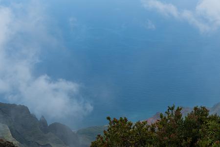 Beautiful Kalalau lookout vista on Kauai, Hawaii