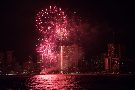 Fireworks on Oahu