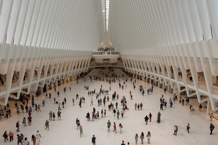 Inside the Oculus, Manhattan, New York City