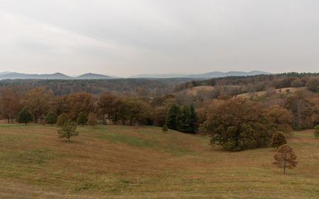 Appalachian foothills in autumn Stok Fotoğraf