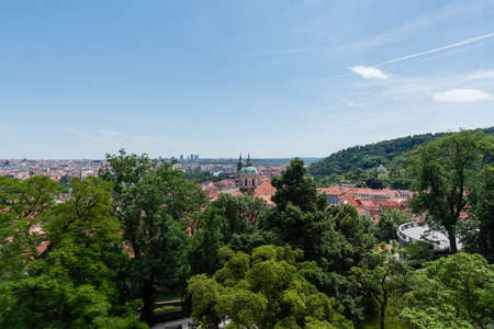 Prague's rooftops in the summer Banque d'images