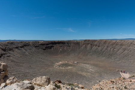 Majestic Meteor Crater vista in springtime, northern Arizona