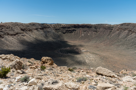 Majestic Meteor Crater vista in springtime, northern Arizona