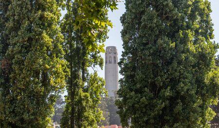 Beautiful Coit Tower vista in San Francisco, California