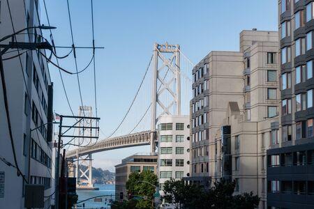 San Francisco downtown and Bay Bridge vista in San Francisco, California Stock Photo