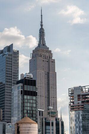 Scenic Midtown New York City skyline vista after sunrise
