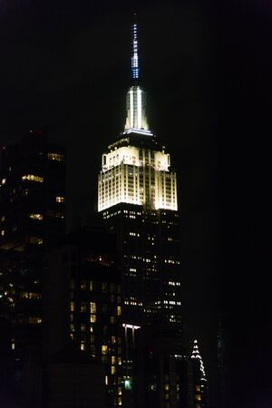 Scenic Midtown Manhattan skyline vista at night, New York City