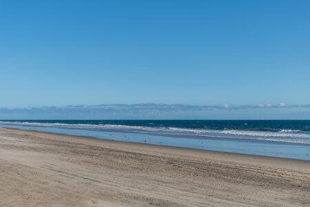 Desolate Zuma Beach vista during California stay-at-home order, Malibu