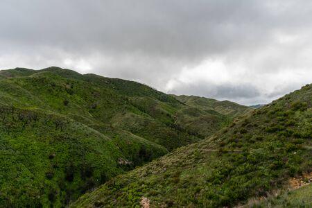 Scenic Malibu vista after a rainstorm, Southern California