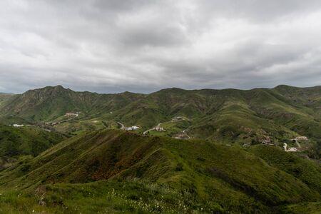 Scenic Malibu vista in springtime after a rainstorm, Southern California