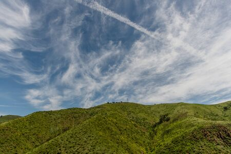 Scenic Malibu vista on a beautiful springtime day, Southern California Banco de Imagens