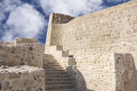 stairs for the second level in Bahrain fort Stock Photo