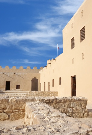 A closure look in the western part of Riffa Fort, Bahrain Stock Photo - 14340885