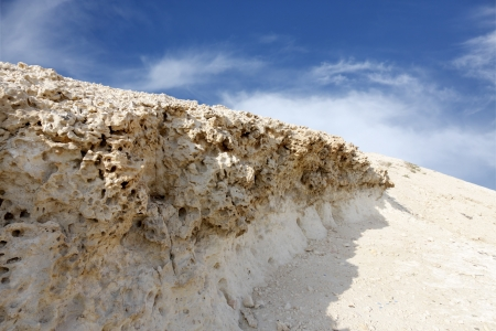 carbonate: Weathered limestone rock in Hunanaiya valley, Bahrain