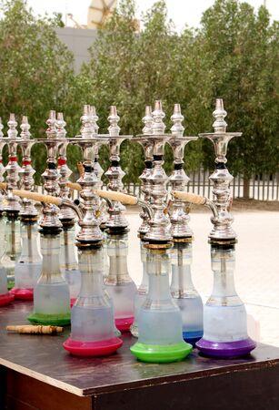 Closeup of colourful Arabic Shisha photo