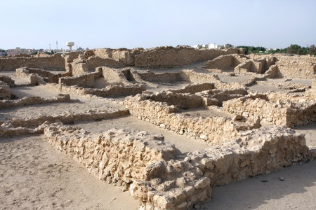 saar: Excavated ancient Saar village Stock Photo