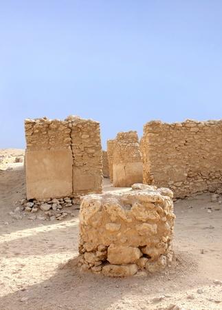 saar: A circular column remains outside the Saar temple