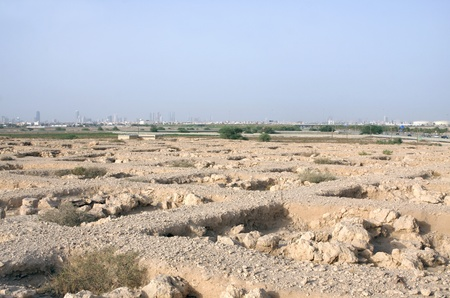 saar: A broad view of Honeycomb cemetery near Saar village Stock Photo
