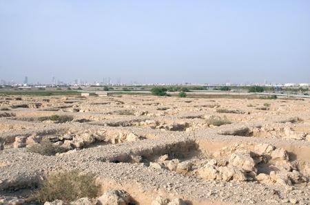 saar: A broad view of Honeycomb cemetery near Saar village Stock Photo