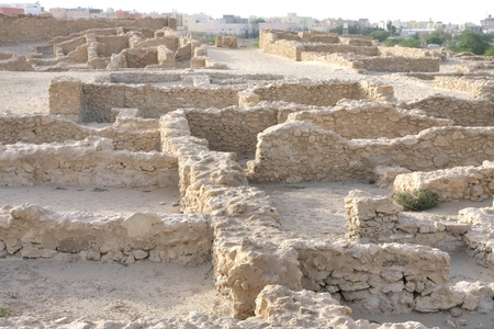 saar: Ruins of houses with communal walls in Saar village Stock Photo