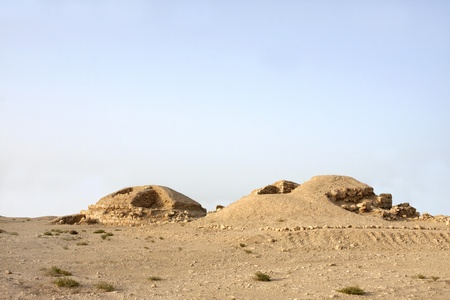 saar: Ancient burial mounds in Saar village, Looking north east