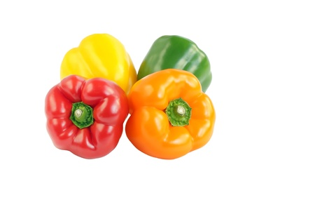 Bell peppers of different colour Stock Photo - 14446262