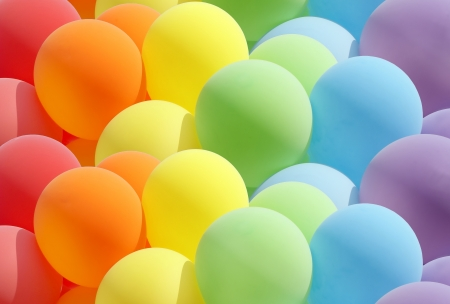 Balloons showing splendid colours Stock Photo