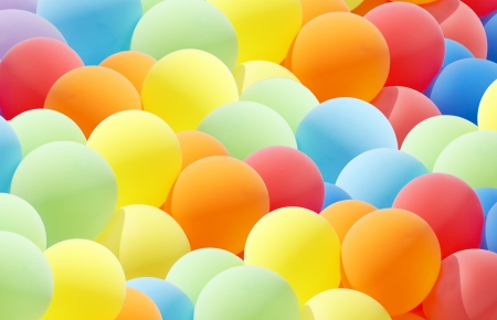 balloon background: Colurful balloon cloud Stock Photo