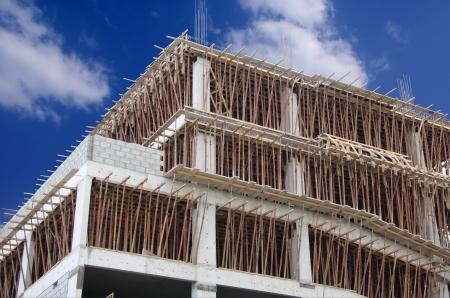 lajas: Losa y la fundici�n de haz en la construcci�n del nuevo edificio