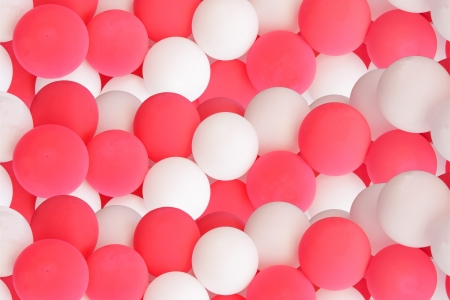 decorative pink and white balloons Stock Photo